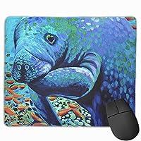 デスクトップ、コンピュータ、PCおよびラップトップのための海の恋人滑り止めラバーマウスマットマウスパッド9.8 x 11.8インチ(25 x 30 cm)