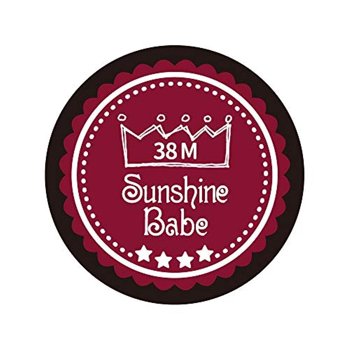 学校非公式端Sunshine Babe カラージェル 38M レッドペア 4g UV/LED対応