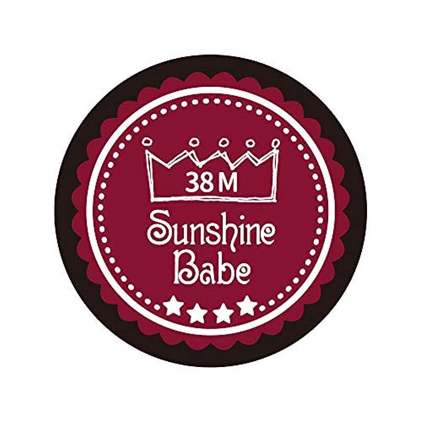 Sunshine Babe カラージェル 38M レッドペア 4g UV/LED対応