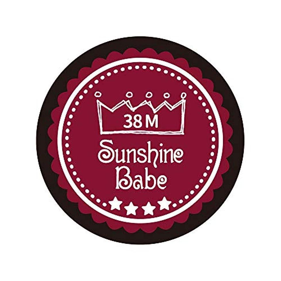 障害者対人エンジニアリングSunshine Babe カラージェル 38M レッドペア 4g UV/LED対応