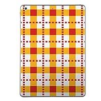 iPad Air2 スキンシール apple アップル アイパッド A1566 A1567 タブレット tablet シール ステッカー ケース 保護シール 背面 人気 単品 おしゃれ チェック・ボーダー チェック 赤 オレンジ 005214