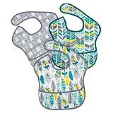[ バンキンス ] Bumkins お食事エプロン 3枚セット スーパービブ 6~24ヶ月頃 よだれかけ スタイ 防水 洗濯可 Fセット(S3-N16) Bibs Waterproof Accessories Super Bib 3PK, Neutral Assorted Feather/Quill/Arrow ベビー ビブ エプロン 赤ちゃん [並行輸入品]