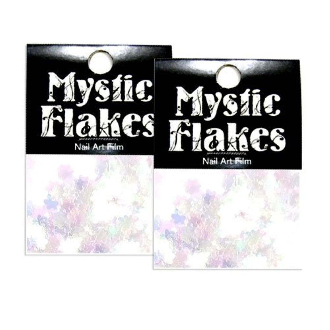 音声学ウイルス知人ミスティックフレース ネイル用ストーン オーロラホワイト フラワー 0.5g 2個セット