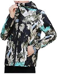 Keaac Men's UV Protection Quick Dry Lightweight Jacket Hooded Windbreaker