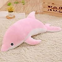 PPOO ホット大ぬいぐるみイルカのおもちゃぬいぐるみ海の動物かわいい人形睡眠枕クリスマスの誕生日プレゼント