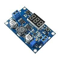 Dc dc-dc 3〜35ボルトに3.5〜35ボルトltc1871ブースターステップアップ昇圧モジュールコンバータ安定化電源+電圧計