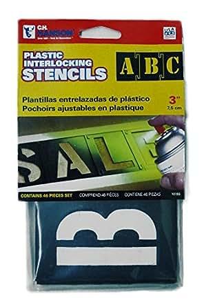 プラスチック製 ステンシル3インチ 3inch