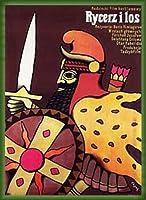 ポスター イェジ フリサク Knight and the Fate、 Boris Kimiagarov 1978 額装品 ウッドベーシックフレーム(グリーン)