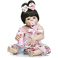 フルボディシリコンガールReborn新生児ベビービニール人形22インチRealistic Toys with磁気口