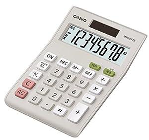 カシオ スタンダード電卓 税計算 ミニジャストタイプ 8桁 MW-8VTB-N ホワイト