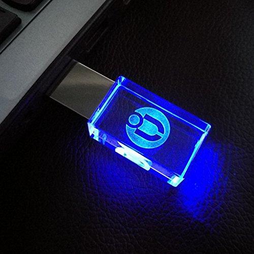 USB メモリ 大容量 カラフル クリスタル ストーン プレゼント プレゼント 贈り物 ギフト 美味しい 海外 輸入 珍しい 特別 プレゼント 男女おしゃれ かわいい 就職祝 プレゼント 卒業祝 記念品 ギフト ラインストーンクリスタルLEDライト 防水 (16GB, ブラック)