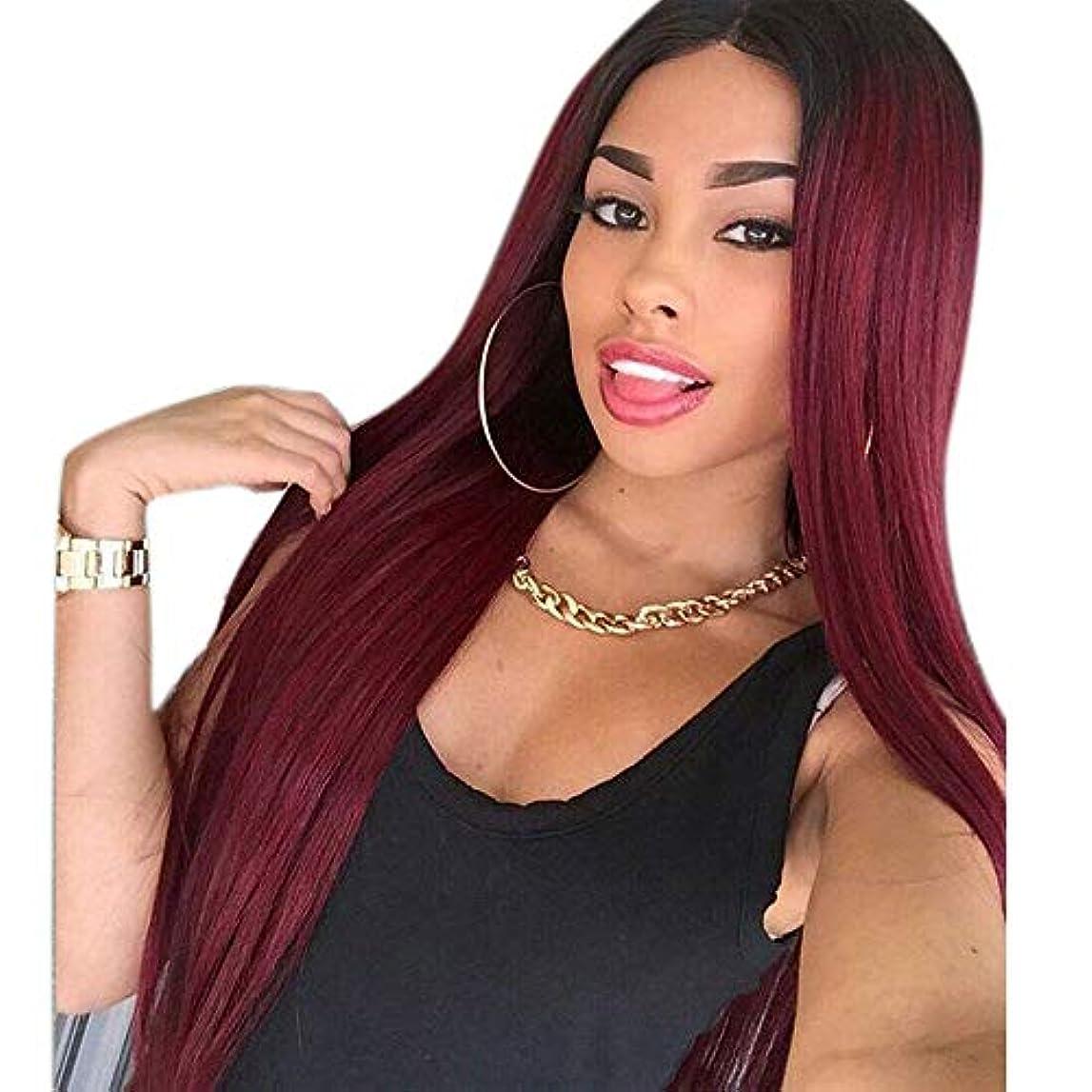 スラダムトランペット正直WASAIO 女性の短い巻き毛の濃いルーツのワインレッドの色のコスプレパーティードレス (色 : ワインレッド)