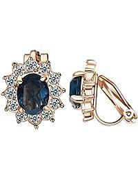 Yoursfs Clip On Earrings For Women Non Pierced Ears Dainty Cubic zirconia Clip-On Earrings
