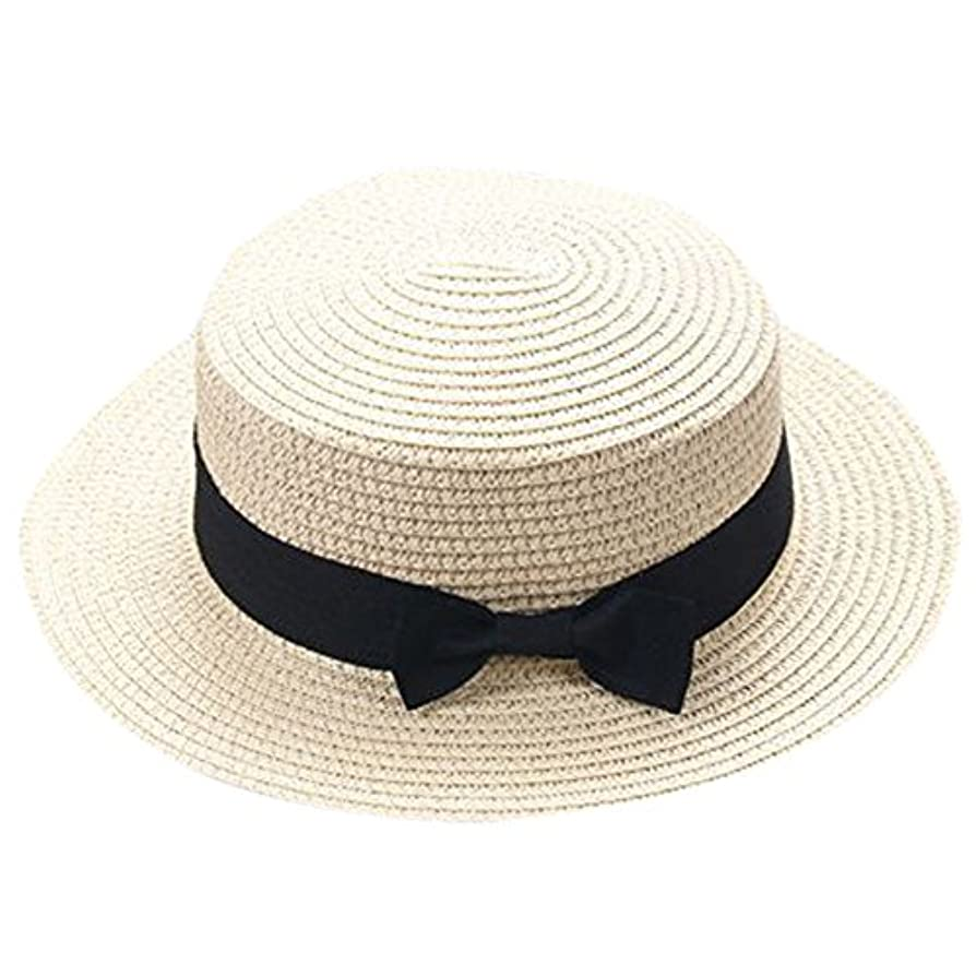 修正するはさみ苦しみキャップ キッズ 日よけ 帽子 小顔効果抜群 旅行用 日よけ 夏 ビーチ 海辺 かわいい リゾート 紫外線対策 男女兼用 日焼け防止 熱中症予防 取り外すあご紐 つば広 おしゃれ 可愛い 夏 ROSE ROMAN