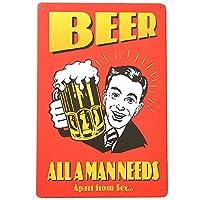 ブリキ看板 ビール drink-2-120 / BEEL アメリカン雑貨 サインプレート インテリア カフェ