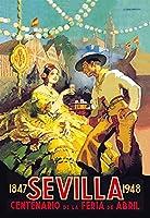 """Buyenlarge 0–587–01263–3-p1218"""" Sevilla Centenario de la feria de Abril """"紙ポスター、12"""" x 18"""""""