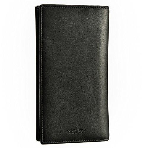 Giorgio Armani(ジョルジオアルマーニ) 財布 メンズ CALF 2つ折り長財布 ブラック Y2R111-YDH6J-80001 [並行輸入品]