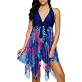 YD Yong Dong Bathing Suits for Women Halter Tankini Swimsuits with Shorts