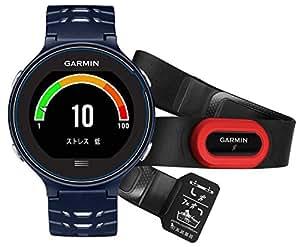 GARMIN(ガーミン) ランニングウォッチ GPS タッチパネル VO2Max ライフログ ForAthlete 630J ミッドナイトブルー×ホワイト (ハートレートセンサーHRM-Runセット) 【日本正規品】 FA630J 371795