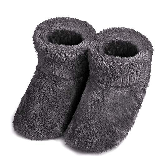 スリッパ ル ームブーツ 暖かい もこもこ 可愛い 靴 おしゃれ 滑り止め 静音 シューズ 洗濯可室内履き専用 冬専用 男女兼用 (ブラウン, L)