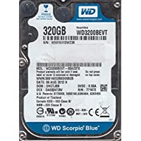 wd3200bevt-00a23t0、DCM dhctjbb、Western Digital 320GB SATA 2.5ハードドライブ