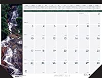 House of Doolittle 2016 Monthly Desk Pad Calendar Earthscapes Waterfalls 22x17 (HOD171-16) [並行輸入品]