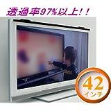 反射防止膜付き液晶テレビ保護パネル レクアガード42V 透過率97%以上 帯電防止・傷防止効果