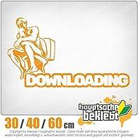 KIWISTAR - Downloading - Kacke - Klo - Shit 15色 - ネオン+クロム! ステッカービニールオートバイ