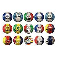 国際国のフラグのとクラブサッカーボールFootball size-5パネル32
