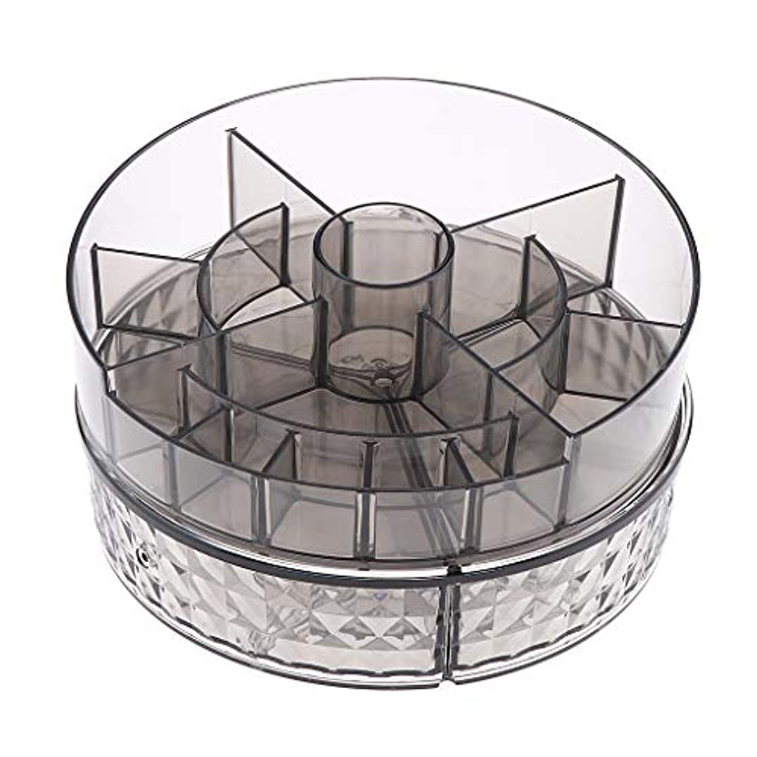 雨の灌漑放つDYNWAVE 化粧品収納 コスメ収納ボックス メイクケース 360度回転 2層収納スタンド アクリル 透明 全2色 - ダイヤモンド