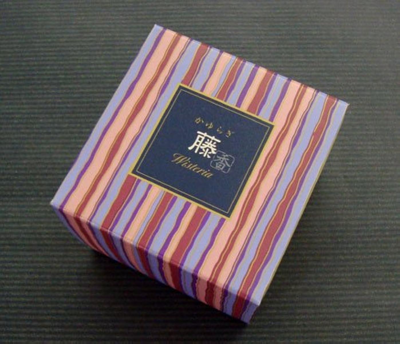 遡るアラブサラボフリル気品ある藤の香り 日本香堂【かゆらぎ 藤 コーン型12個入】香立付 【お香】