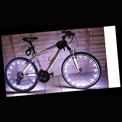 Caloics 自転車LED ホイールライト 自転車タイヤ用ライト デコレーションランプ 防水 夜道安全 学生 通勤 通学 多色選択可能 (ホワイト)