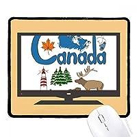 カナダの国家の象徴のランドマークのパターン マウスパッド・ノンスリップゴムパッドのゲーム事務所