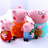 4Pcs Piggy Pig Family Stuffed Toy 30cm DADDY MOMMY 20cm Children - Bundle/Bulk Buy