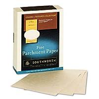 Southworth : 色 + テクスチャ 高級パーチメントペーパー 銅 24ポンド レターサイズ 1箱500枚 - : - 500枚入り2パックで販売 - 合計1000枚
