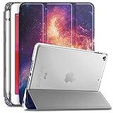 Infiland iPad mini5 ケース ペンホルダー付き Apple pencil 対応 iPad mini5(2019春発売新型)三つ折スタンドカバー ipad mini5 カバー キズ防止 軽量 薄型 オートスリープ機能 収納カバー 半透明カバー 2019発売のiPad Mini5(第五世代)