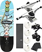 "Good Skateboards Motel Skyスケートボード8"" x 31.625"" Complete Skateboard–7項目のバンドル"