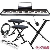 Artesia アルテシア デジタルピアノ(電子ピアノ) 88鍵 Performer/BK ブラック サクラ楽器オリジナルセット[スタンド・イス×2・ヘッドフォン・クリーニングクロス]