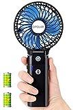 OPOLAR 充電式手持ち扇風機 5200mAhモバイルバッテリー内蔵 USB充電式 折りたたみスタンド機能 最大20時間動作 3段階調整対応 ハンディ扇風機、パワフル、コードレス、小型、ミニ、コンパクト