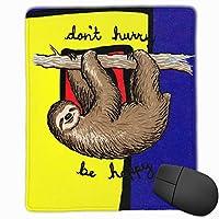 ミニサイズ パソコン ゲーミング マウスパッド 防水 冒険 ナマケモノ Sloth デスクマット パッドト滑り止めゴム底 耐久性が良い キーボード 学校 オフィス用