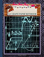 Quad Paper Notebook 4x4 Squared Ruled Composition Notebook.A Cute Christmas Gifts for Teens or children who loved Laboratory Math and science.: There is plenty of room inside for drawing,   writing notes, journaling, doodling, list making, creative.