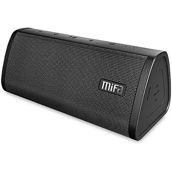MIFA スピーカー Bluetooth 4.2、ポータブル、TWS機能対応、工場直販、デュアルドライバー、大音量、ハンズフリー通話、Micro SDカード機能つき【ブラック】