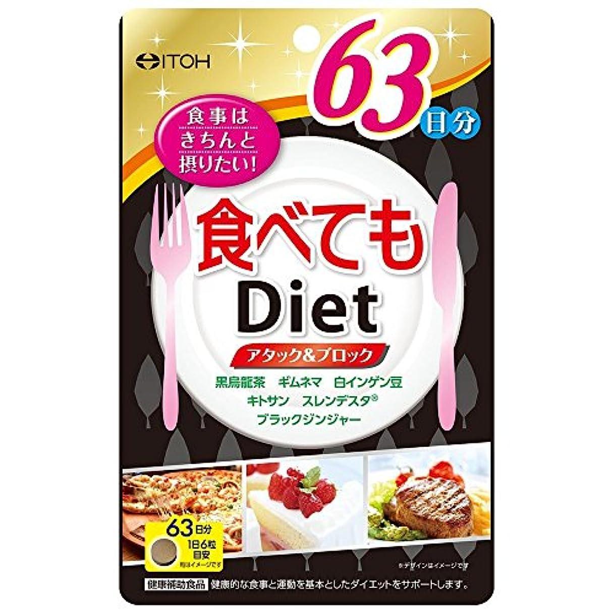 ノートカーテンなぜなら井藤漢方製薬 食べてもDiet 378粒 約63日分