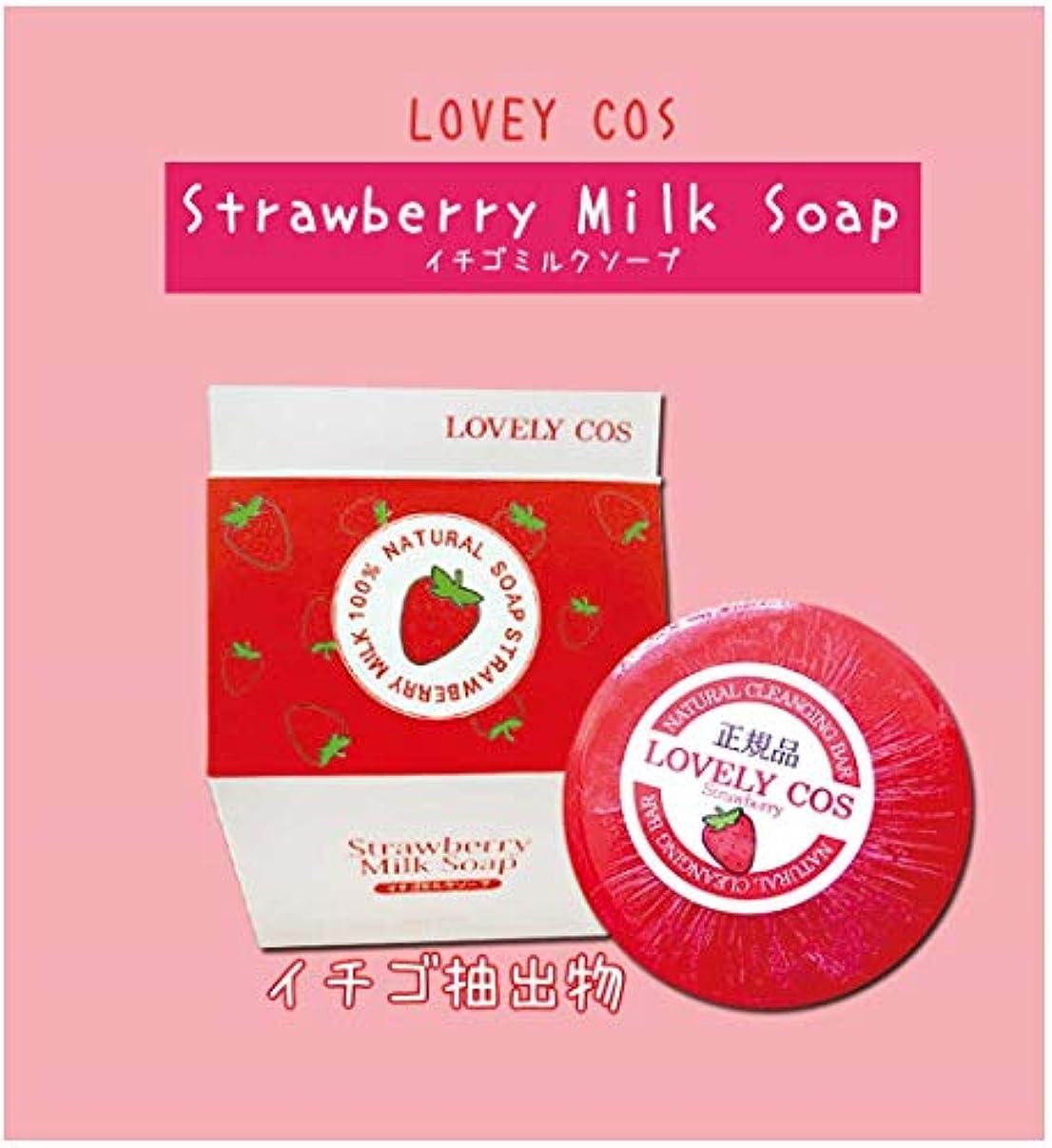 パラダイス行商ボタンDermal ダーマル LOVELY COS ラブリーコス Strawberry Milk Soap ストロベリーミルクソープ イチゴミルクソープ