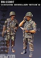 Bravo6 B6-35007 1/35 米 歩兵将校と無線手ベトナム'68(2体セット)
