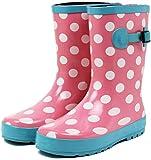(セレブル) Celeble レインブーツ キッズ 女の子 男の子 ジュニア 長靴 雪 子供靴 ピンクドット 22.0