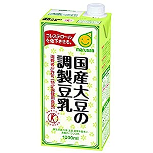 [トクホ]マルサン 国産大豆の調製豆乳 1L