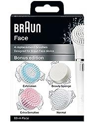 ブラウン 洗顔ブラシ 顔用脱毛器(ブラウンフェイス)用 4種詰め合わせ 80-m Face
