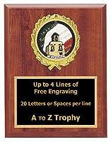 スペイン語Plaque Awards 5x 7木製MexicoスポーツトロフィーTrophies Free Engraving