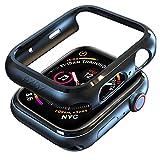 PZOZ コンパチブル Apple Watch ケース PC軽量超簿 耐衝撃性 アップルウォッチ カバー iWatch脱着簡単ポリカーボネート 防護時計ケース Apple Watch Series 4に対応 40mm/44mm (44mm, ブラック)